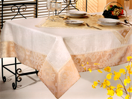 Dining linens manufacturing italian vip embroidery table for Decor vendors